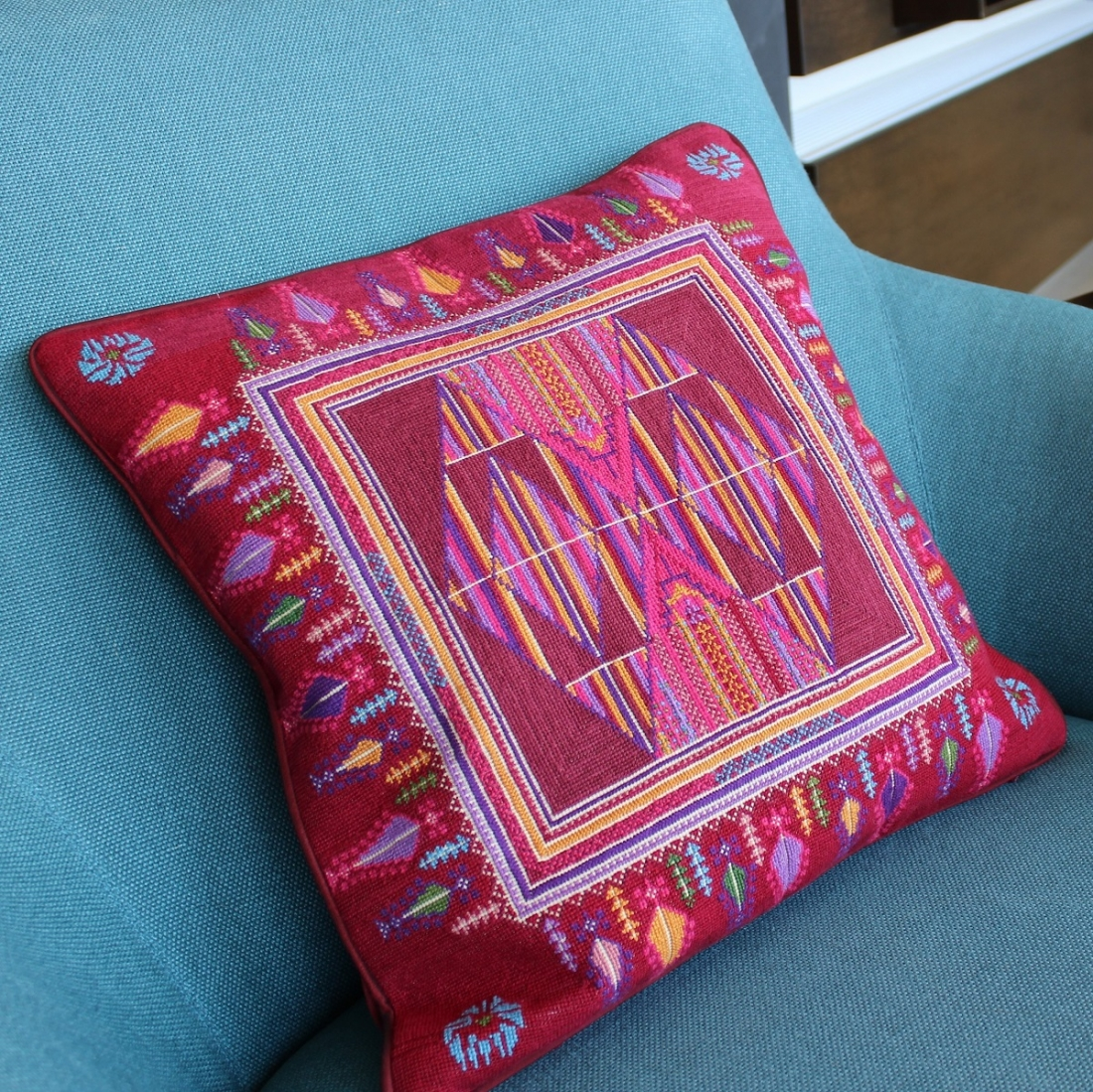 Tatreez handmade embroidered cushion