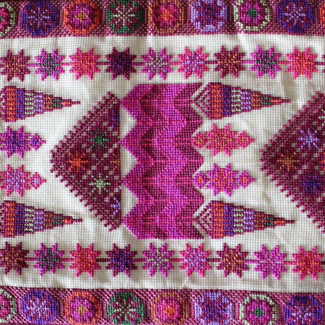 Palestinian Heritage handmade embroidered cushion