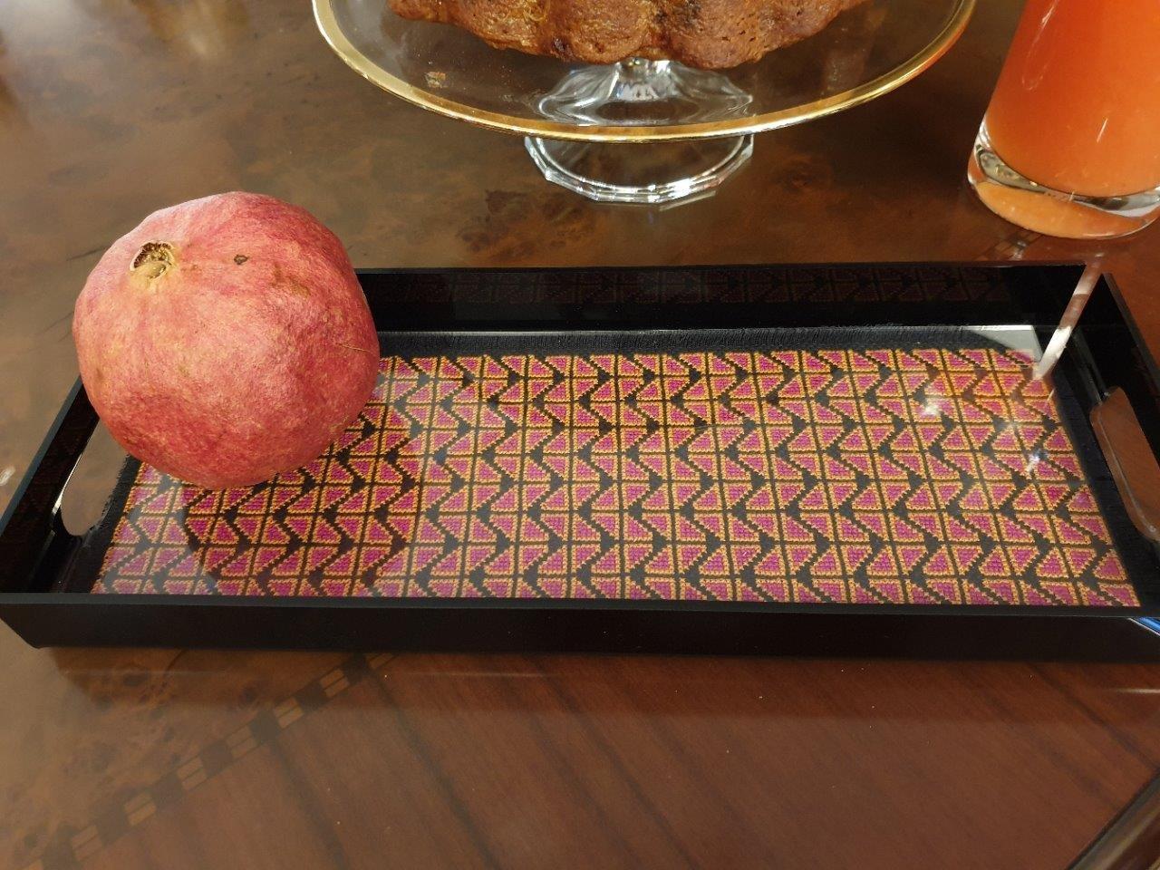Blossom Plexi Tray w/ Embroidered Insert