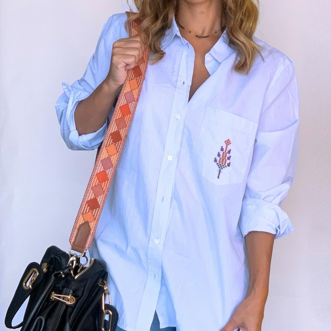 Havane Hand embroidered Bag Strap