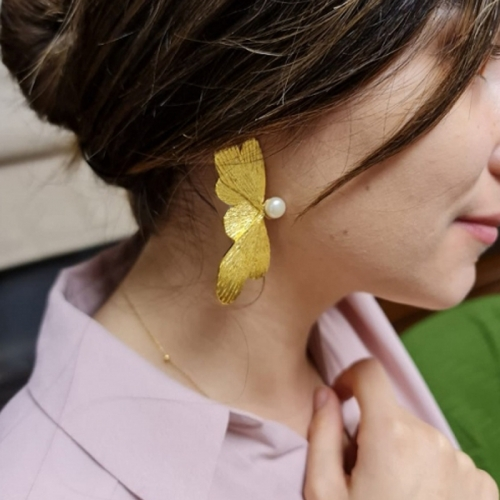 Butterfly with Me Handmade Gold-Plated Earrings