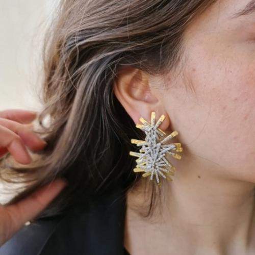 Zircon Sticks Earrings