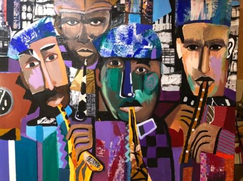 Into Jazz Mixed Media Artwork