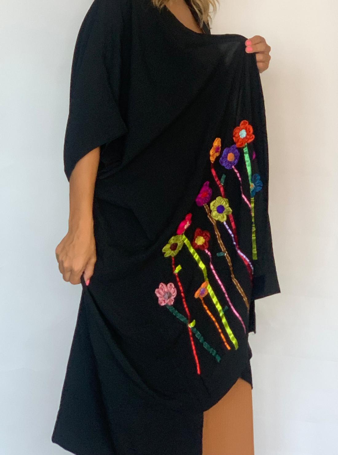 Flowers Handmade embroidered Kodary modern Abaya