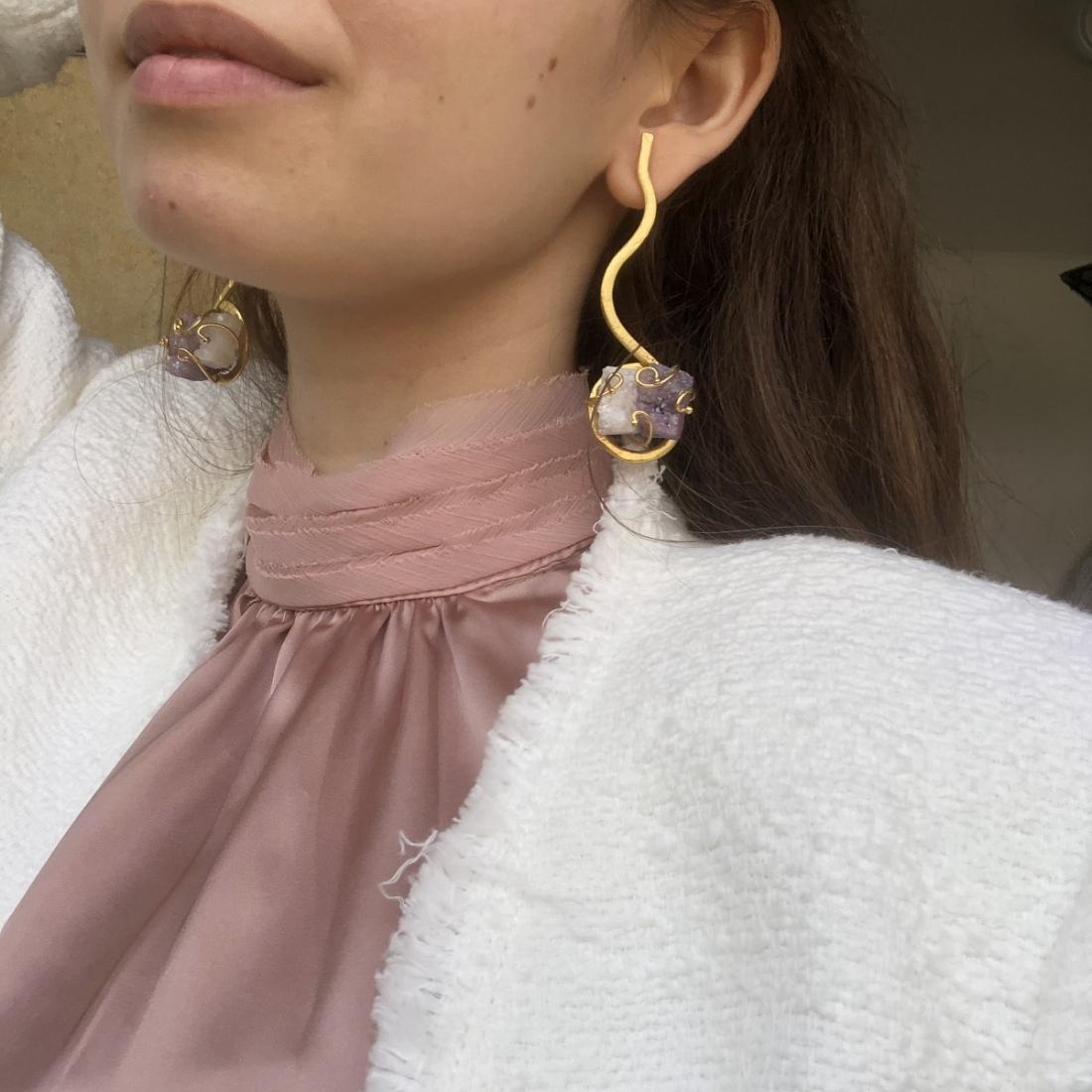 Candy Pop Mini's Gold-Plated Handmade Earrings